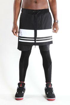 Black and White Panel Shorts, Skingraft, Machus, Portland men's fashion, PDX men's store, street wear – machus