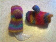 Felted mittens of Puro yarn