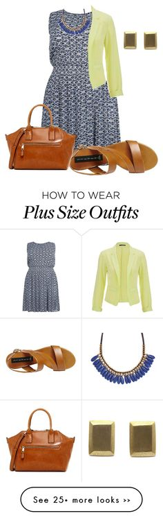 """easy plus size summer office look2"" by kristie-payne on Polyvore"