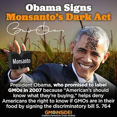 President Obama signs GMO labeling bill. Find out why this bill is troubling and discriminatory: https://foodrevolution.org/blog/genetically-engineered-foods/obama-gmo-labeling-bill