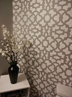 Moroccan Stencil Zamira - Large - Reusable Wall stencil patterns instead of wallpaper - Quality stencils for DIY decor - Site Title Diy Tapete, Expensive Wallpaper, Wall Stencil Patterns, Painting Patterns, Wall Stencil Designs, Diy Wall Painting, Stencil Painting, Stenciling Walls, Moroccan Stencil