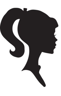 Princess Silhouette, Silhouette Clip Art, Black Silhouette, Woman Silhouette, Female Head, Quilling Craft, Barbie Party, Line Drawing, Art Journals