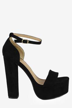 Python Slim Ankle Strap Chunky Heels