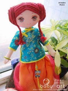 Mimin Dolls: Tutorial cabelo com cordão