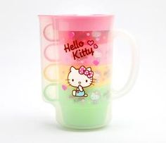 Hello Kitty Pitcher and Cups: Pink Heart $25