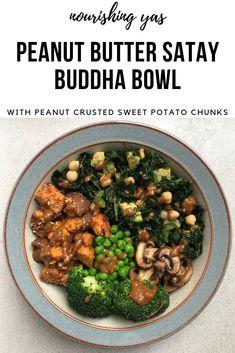 Vegan Peanut Butter Satay Buddha Bowl | Nourishing Yas - Simple Plant based Recipes  #veganfood #buddhabowl #veganuary #veganrecipes #vegandinner #veganlunch #veganinspo #healthyrecipes #plantbasedrecipes #plantbasedfood