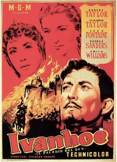 #Ivanhoe / #Ivanhoe, 1952, spanish movie poster.