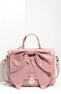 RED Valentino Calfskin Leather Bow Satchel