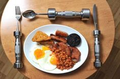 Dumbbell, eat fit cutlery - still makes sense to use it on healthy food!