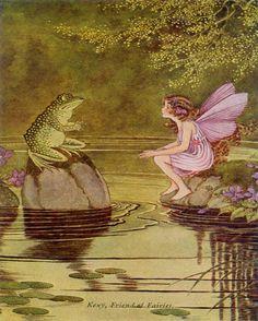 frog and fairy vintage artwork  rosenberryrooms.com
