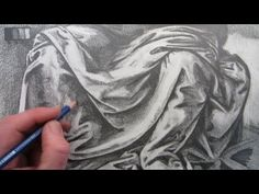 How to Draw Fabric Folds 5:25min video. A bit slow to watch but would be geat to put up on the board as students either come in the room or are working on their projects.