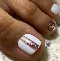 Pretty Toe Nails, Cute Toe Nails, Love Nails, Gorgeous Nails, Cute Toes, Gel Toe Nails, Feet Nails, Toe Nail Art, Gel Toes