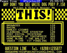 TeletextR: Teletext Answer me this by Carlos