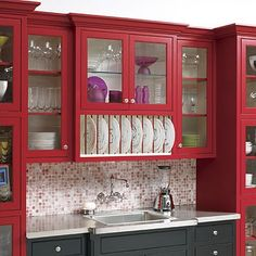 love this look but not sure how practical clear glass would be.... can't hide anything!