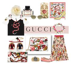 """""""Presenting the Gucci Garden Exclusive Collection: Contest Entry"""" by patricia-dimmick ❤ liked on Polyvore featuring Gucci and gucci"""