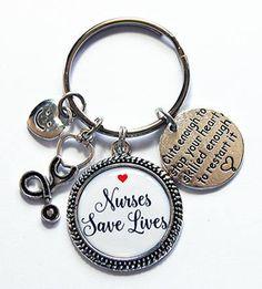 Nurse Keychain Nurses Save Lives Gift for Nurse Nurse key