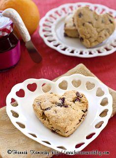 Bitter-Sweet- | Orange Cranberry Scones | dessert sweet baking + red white tan brown
