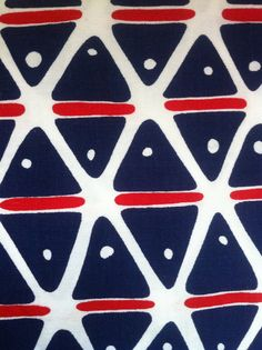 Mod awesome geometric fabric 60's triangles by SuperFound on Etsy great preppy geo/Mediterranean