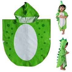 Children Bath Towel Robe Kids Hooded Beach Swimming Poncho Dinosaur Pattern for sale online Dinosaur Party Supplies, Kids Hooded Towels, Boy Or Girl, Baby Boy, Kids Robes, Capes For Kids, Disney With A Toddler, Dinosaur Pattern, Hooded Poncho