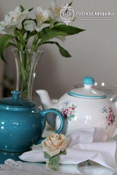 Decoração para Receber Bem por Patricia Junqueira. Tablescape. http://www.patriciajunqueira.com.br/#!ch-da-tarde-azul/ci40