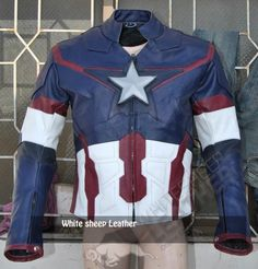 Avengers 2 Captain America Age of Ultron Costume Replica jacket /Chris Evans Captain America Jacket 2015