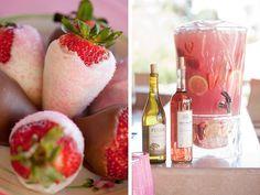 Strawberries and Lemonade. Pretty Pinks