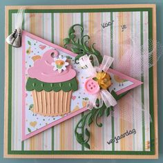 Cupcakes, Marianne Design, Paper Models, Paper Cards, High Tea, Card Making, Scrapbooking, Homemade, How To Make