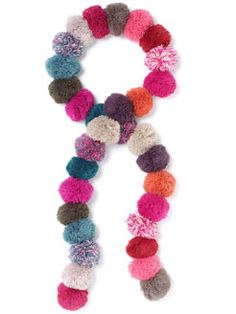 Pom Pom Gypset Scarf at Accessorize