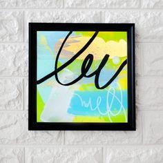 Technique: Acrylic below a sheet of acrylic Dimensions: 12 x 12 cm Abstract Expressionism, Abstract Art, Acrylic Sheets, Cursive, Art Studios, Graphic Art, Innovation, Original Art, The Originals