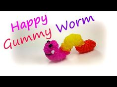 Happy Gummy Worm Tutorial by feelinspiffy (Rainbow Loom) - YouTube