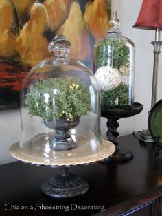 Chic on a Shoestring Decorating: Cloches