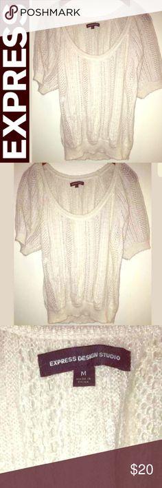 Selling this Express mohair blend cream sweater SPARKLE :) M on Poshmark! My username is: juliannaburrows. #shopmycloset #poshmark #fashion #shopping #style #forsale #Express #Tops