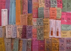For the seriously ticket addicted!    I have tickets and ephemera stashed in all kinds of places around my home. So here is a selection with some that