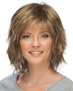 View Of All Images For Jones by Estetica Designs bob hairstyles thin fine hair brown Estetica Designs Wigs Jones Short Shag Hairstyles, Haircuts For Fine Hair, Layered Haircuts, Choppy Bob Hairstyles With Bangs, Chin Length Hairstyles, Hairstyles For Older Women, Office Hairstyles, Anime Hairstyles, Stylish Hairstyles