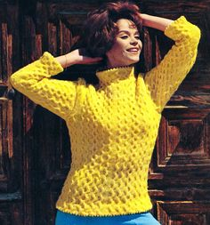 Vintage 1960s Knitting Pattern Mod Cable Beatnik Sweater PDF. 3.00, via Etsy.