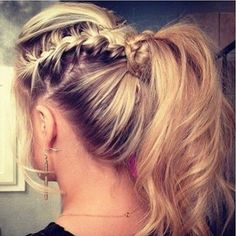 By S G. I think this is something Gwen Stefani would do on her next tour. I really like this ponytail! @BLOOM.COM