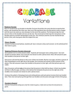 FREE! - Emotion Charades! Group Therapy Activities, Bonding Activities, Activities For Boys, Play Therapy, Therapy Ideas, Pictionary Word List, Charades For Kids, Anxiety Relief, Stress And Anxiety