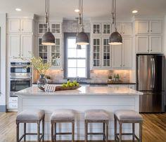 Trending on Houzz is this fresh kitchen via Saussy Burbank.