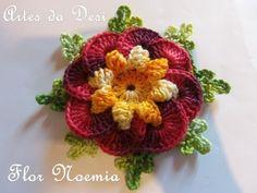 Passo a Passo Flor Noemia - Artes da Desi - By Desi Winters - YouTube