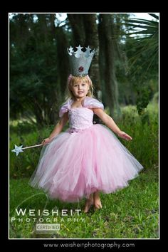 GOOD LITTLE WITCH Glinda Inspired Tutu Set with Ultra Full Tutu, Beaded Corset Top, Crown and Wand via Etsy.