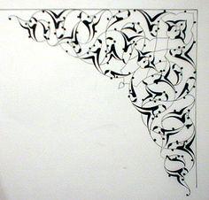 'Tezhip' work by emeget on DeviantArt Islamic Art Pattern, Pattern Art, Zentangle, Illumination Art, Arabesque Pattern, Persian Motifs, Turkish Art, Graffiti, Arabic Art