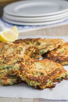 These Zucchini & Sweet Potato Fritters are gluten and dairy free and are suitable for Paleo. If you can't eat egg or are vegetarian or vegan, then you can replace the egg with mashed potato