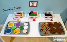 Cookie Shop Bakery Dramatic Play for Preschool