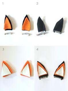 DIY Fox Clippies by kraft&mint diy tutorial