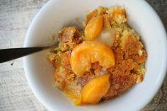 3 Ingredient Peach Cobbler