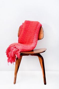 Vintage Pink Crochet Throw Blanket by BrightWallVintage on Etsy