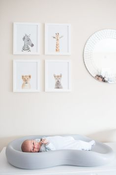 Serene baby boy nursery: http://www.stylemepretty.com/living/2016/09/17/crafting-a-tranquil-nursery-amongst-the-hustle-and-bustle-of-nyc/ Photography: Meg Miller - http://megmillerphotography.com/