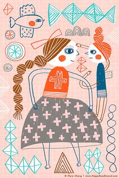 Blessing | art print by flora chang, Happy Doodle Land