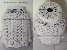 Filet Crochet, Crochet Doilies, Knit Crochet, Crochet Things, Crochet Necklace Pattern, Diy Bottle, Crochet Home, Knitting Projects, Clothing Patterns