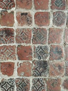 Medieval floor tiles in the north transept at St Mary's, Acton Burnell, Shropshire.